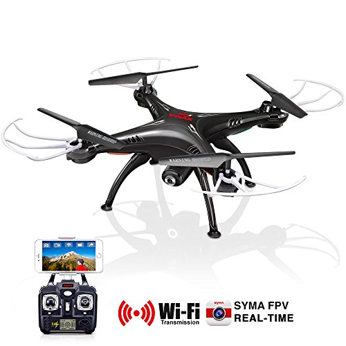 Original Syma X5sw Rc 2 4G 6 Axis Fpv Quadcopter Drone Helicopter Headless With 2 0Mp Camera Wifi Ios Android Sync Real Time Video Black