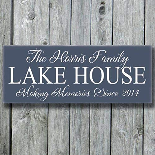 Emily Lake House Decor Signs Personalized Lake House Family Name Lakeside Life Memories Gifts New Home Plaque Last Name Gift Quote Decorative Sign Home Wooden Sign Plaque