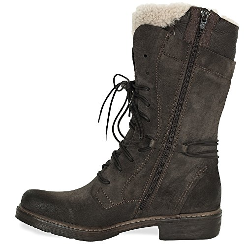 Celtic & Co Womens Brown Lace Detail Calf Height Woodsman Boots Brown s1APzQF1