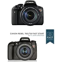 Canon EOS Rebel T6i Digital SLR with EF-S 18-135mm IS STM Lens - Wi-Fi Enabled w/ Fast Start Course