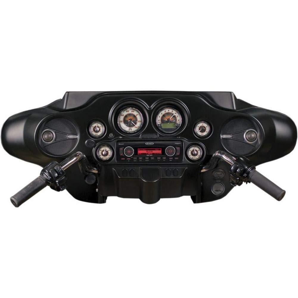 60 Watts Peak Power Frequency Response 73Hz to 20kHz 2.5 Mounting Depth Bridged//Suspended Dome Tweeter Jensen HDX650 Replacement 6.5 Harley Davidson Speakers 3 Ohms Impedance