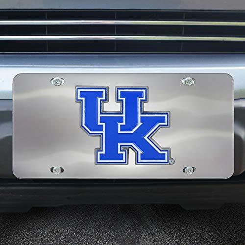 (Fanmats NCAA Kentucky Wildcats Die Cast License Platedie Cast License Plate, Chrome, 6