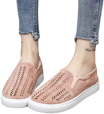 Clearance!Women Casual Shoes,Todaies New Women Hollow Out Shoes Round Toe Platform Flat Heel Slip on Ladies Casual Shoes 2018