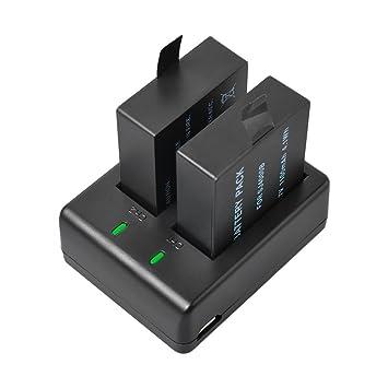 BPS 2 x SJ4000 Batería + Dual USB cargador rápido para SJCAM ...