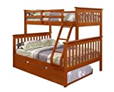 Cheap Bunk Bed Twin over Full Mission Style in Espresso with Trundle by DONCO