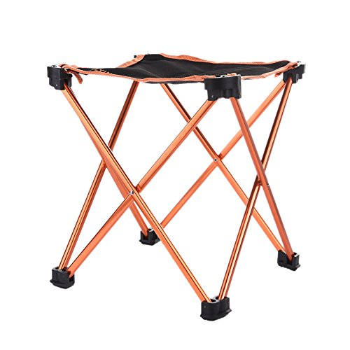 Folding Square Stool with 4 Corners Aluminum Alloy Chair for Camping Fishing Picnic (Square Stool) (Picnic Stool)