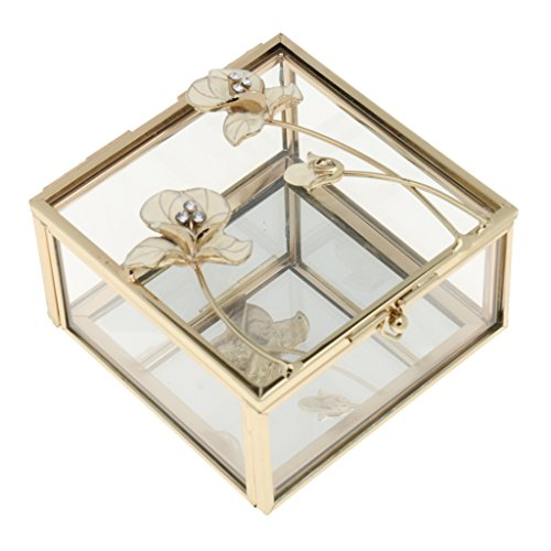 Veranstalter Blumenohrring Display Box Halter Speicher Dekor glasschmuck Ring