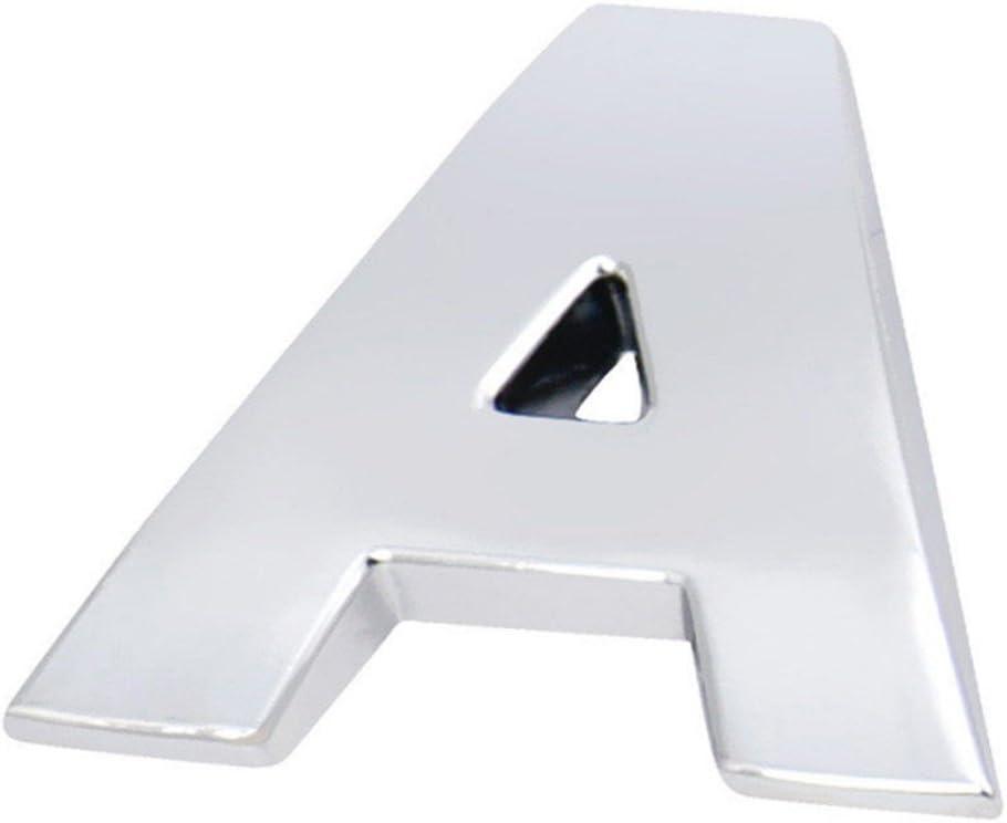 MAXGOODS 10 Pezzi Lettere Dellalfabeto Adesivi in Metallo Argento Adesivi Per Auto Logo 3D Emblema Assetto Per Uomini e Donne Inviaci Une-mail Dopo lacquisto per Dirti Quale Lettera /è Necessaria