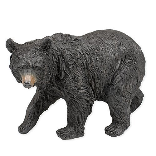 Black Bear Walking 9.5 x 5 x 6.5 Inch Resin Crafted Tabletop Figurine