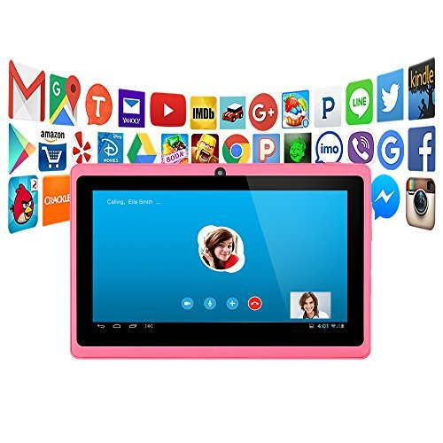 "Alldaymall A88X 7"" Tablet – Cheapest Tablet PC for Kids – Pink"