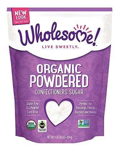 - Wholesome Sweeteners Organic Powdered Sugar, 16 oz