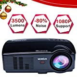 "Projector, WiMiUS 3500 Lux HD Video Projector with 200"" Projection Size Support 1080P"