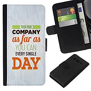All Phone Most Case / Oferta Especial Cáscara Funda de cuero Monedero Cubierta de proteccion Caso / Wallet Case for Samsung Galaxy A3 // Company Day Inspiring Paper Modern Message