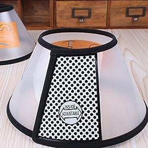 ZeroShop(TM) Pet E-Collar Cone for Dog, Translucent, Large, Neck Size ca. 40-47CM 50