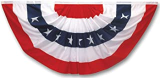 product image for Valley Forge Pleated Fan Flag 5 Printed Stripes In Red , White And Blue 3' X 6' Cotton