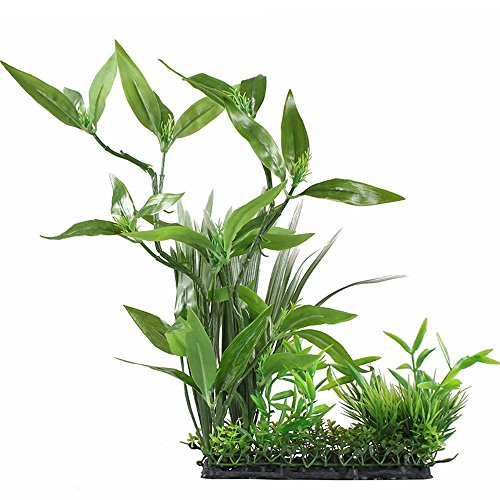 CNZ Aquarium Decor Fish Tank Decoration Ornament Artificial Plastic Plant Green 13
