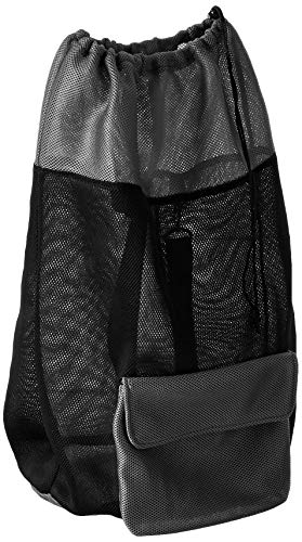 Homz Air, Black and Grey Large Mesh Backpack Laundry Bag,
