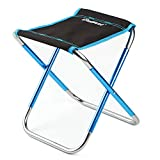 Gudelaa Outdoor Folding Chair 7075 Aluminum Alloy Fishing Chair Portable Travel Beach Chair Folding Stool black