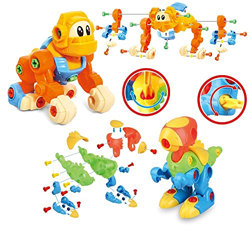 - Dinosaur Take Apart STEM Learning Toys with Tools - Pack of 2 Dinosaurs And 1 King Kong Construction Engineering 111 Piece Toy Play Set - Hours of FunToy for Boys & Girls Age 3, 4, 5 +Year Old