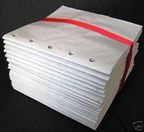 WHITE 6x6 paper bag albums 20 Paper bag Scrapbooks