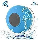 VICTORSTAR@ Waterproof Bluetooth 3.0 Shower Speaker / Handsfree Portable Speakerphone with Built-in Mic / Dedicated Suction Cup for Showers/Bathroom/Pool/Boat/Car/Beach & Outdoor Use- Blue