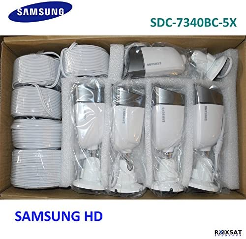 Samsung Sdc-7340bc 720 TVL 72 Wide Angle Night Vision up to 82 Box of 5x