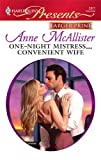 One-Night Mistress... Convenient Wife, Anne Mcallister, 0373236352