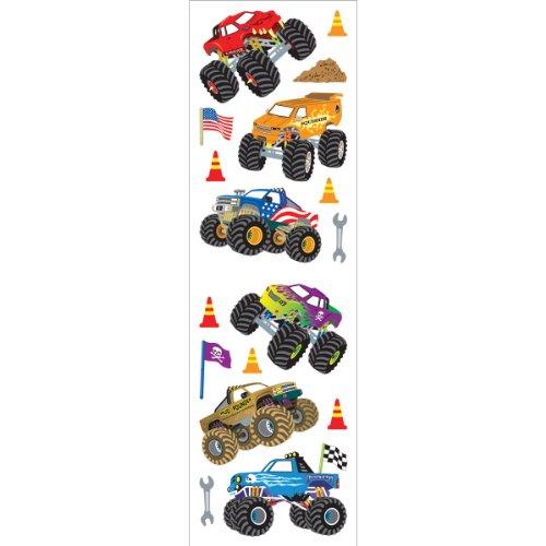 Mrs. Grossman's Stickers-monster Trucks -