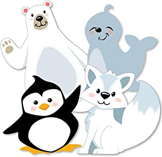 product image for Big Dot of Happiness Arctic Polar Animals - Polar Bear, Seal, Penguin and Arctic Fox Decorations DIY Winter Baby Shower or Birthday Party Essentials - Set of 20