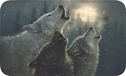 River's Edge Wolves Memory Foam Mat, 31.5 x (River Edge Rug)