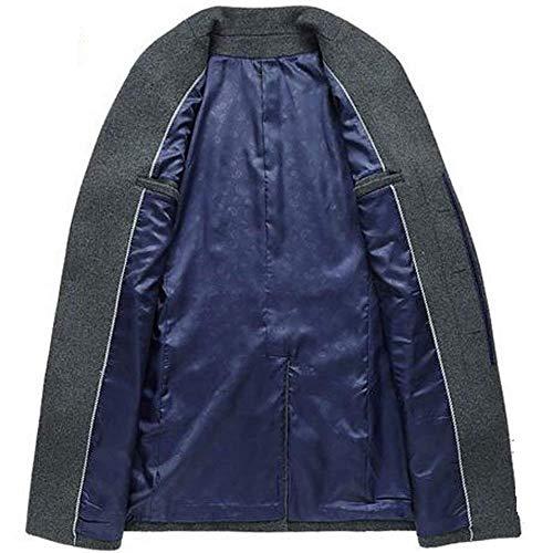 Cappotto Alto Taglie Slim Fashion Abiti Lana Vento Caldo Da Giacca Lunga Fit Invernale Manica Business Collo A Sottile Grau Comode Uomo In Hx qS7x5n