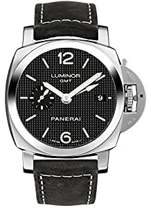 Panerai Luminor 1950 3 Days GMT Acciaio Men's Automatic Watch - PAM00535
