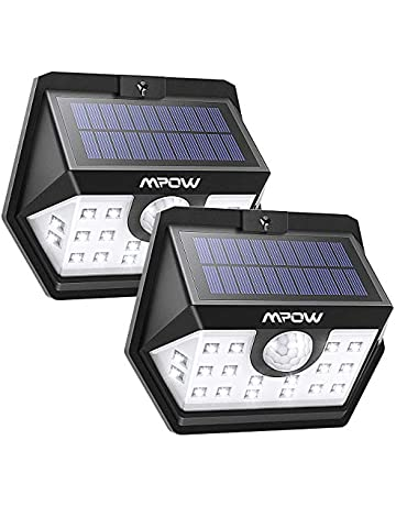 Mpow Luz Solar de Exterior, Lámpara Solar 20 LED, 270º Gran Angular de Iluminación