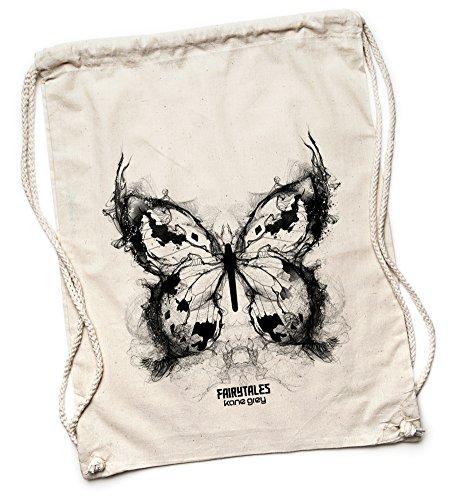 Kane Grey Kane Grey - Butterfly - Bio Turnbeutel aus Segeltuch - Bolso mochila  de Lona para mujer talla única naturaleza