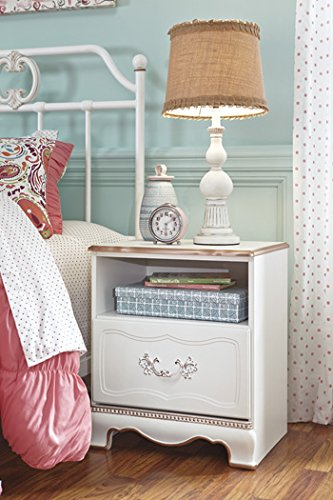 Ashley Furniture Signature Design - Korabella Night Stand - 1 Drawer - Traditional - White by Signature Design by Ashley
