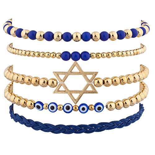 [Lux Accessories Goldtone Jewish Hanukkah Arm Candy Set (5PC)] (Handmade Candy Costumes)