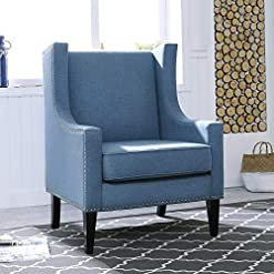 Farmhouse Accent Chairs Festival Depot 1 Piece Indoor Modern Classic Fabric Furniture Accent Arm Chair Single Sofa for Living Room Bedroom with… farmhouse accent chairs