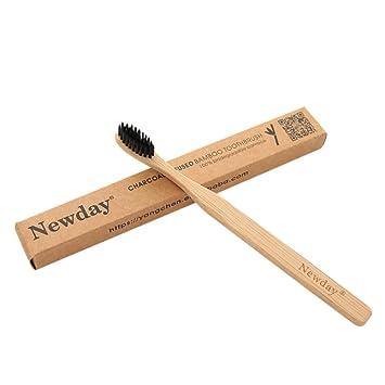 Cepillo de Dientes, Anself Cepillo de Dientes de Bambú Suave de Carbón, Cepillo de