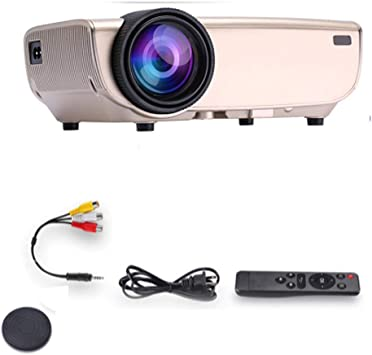 Mini Proyector, Led Portátiles Videoproyectores Apoyo De Formato De Vídeo Full HD A 1080p USB, SD, Hdmi, Vga, AV, TV For Laptop iPhone Andriod Smartphone: Amazon.es: Electrónica