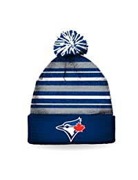 MLB Men's Toronto Blue Jays 2017 Striped Pom Pom Toque