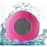 WYNCO Shower Speaker Bluetooth Waterproof Water Resistant Hands-Free Portable Wireless, Built-in Microphone, Solid Suction Cu