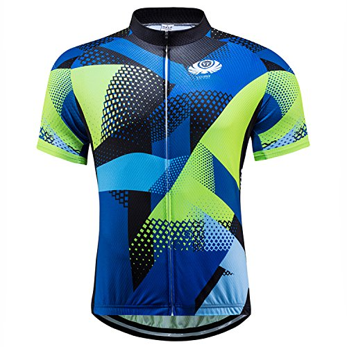 voofly Mountain Biking Shirts for Men Bike Jersey Cycling Clothing Full Zip Breathable Bicycle MTB Shirt XX-Large