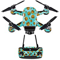 Skin for DJI Spark Mini Drone Combo - Burger Heaven| MightySkins Protective, Durable, and Unique Vinyl Decal wrap cover | Easy To Apply, Remove, and Change Styles | Made in the USA