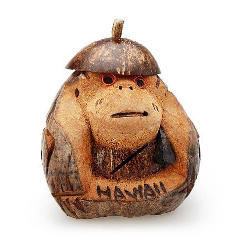 """Islander Hawaii Coconut Monkey Bank 6"""" To 8"""""""