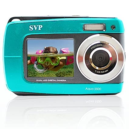 Amazon.com : SVP Aqua 5500 ( Blue ) 18 MP Dual Screen Waterproof ...