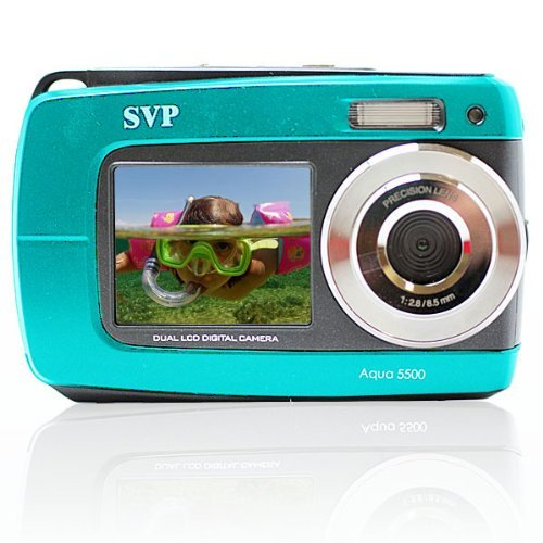 SVP Aqua 5500 (Blue) 18 MP Dual Screen Waterproof Digital Camera