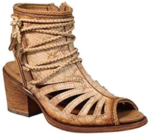 Womens Cutouts Rope Bone Tan Design Fashion C3193 Shoes Zipper Corral FqExXX