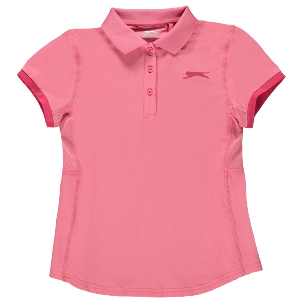 Slazenger  Girls Court Polo Shirt Short Sleeves Age 7-13