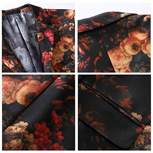 Slim Traje Fit Mens Motivo De Roses Ocio Elegante Boda Suit Rojo Jacket Ropa High Tuxedo Space Blazer Cottton Fiesta 7wqggxB6