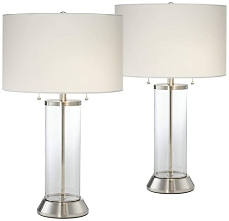 usb table lamp rechargeable fritz glass column usb table lamp set of amazoncom